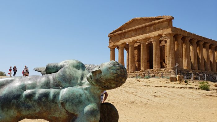 photo, image, temple of concordia, ancient sites in sicily