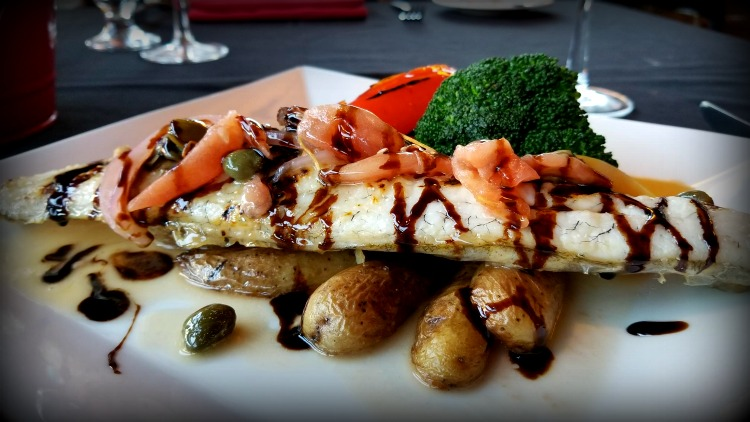 photo, image, grilled pickerel, killarney mountain lodge, summer road trip to killarney