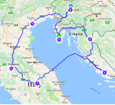 solo road trip around the adriatic sea