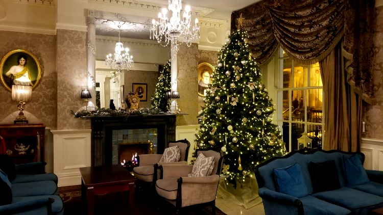 photo, image, hotel lobby, buswells hotel, solo travel destinations for christmas