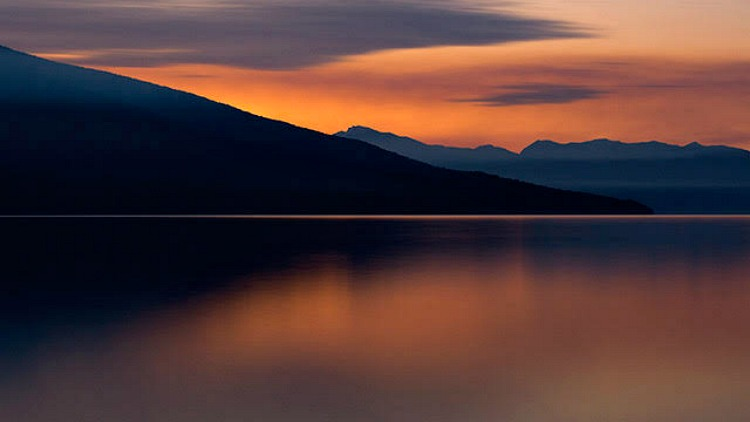 photo, image, sunset, lake te anau, new zealand