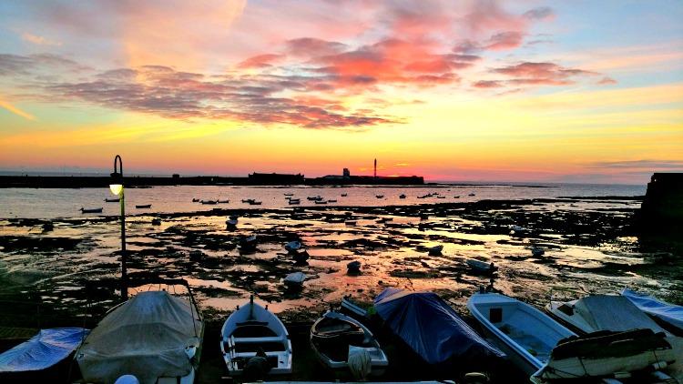 photo, image, sunset in Cadiz, andalucia