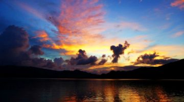 photo, image, sunset, flores, indonesia