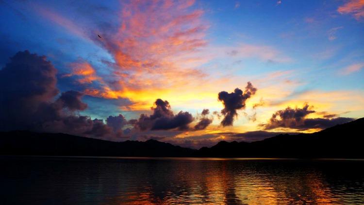 photo, image, sunset, flores, indonesia