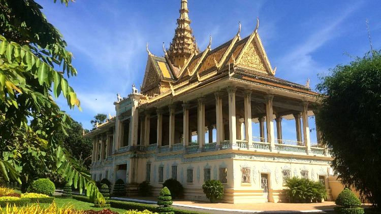 photo, image, royal palace, phnpm penh, cambodia