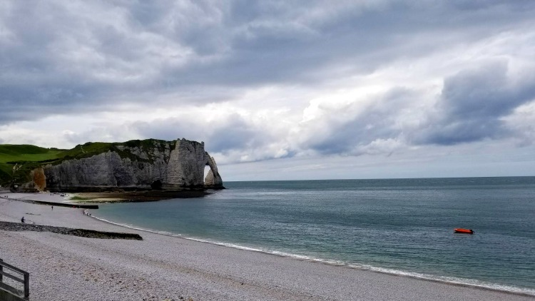 photo, image, cliffs, etretat, river cruise