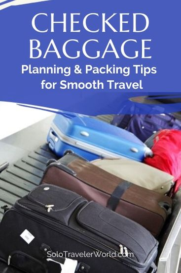 Checked baggage is a completely different game than carry-on. It's about more than weight restrictions. There are ways to plan your trip to make it all go more smoothly. Here are tips to help. #packing #packingtips #travel