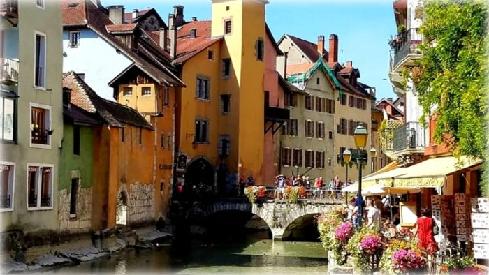 photo, image, houses, annecy, france