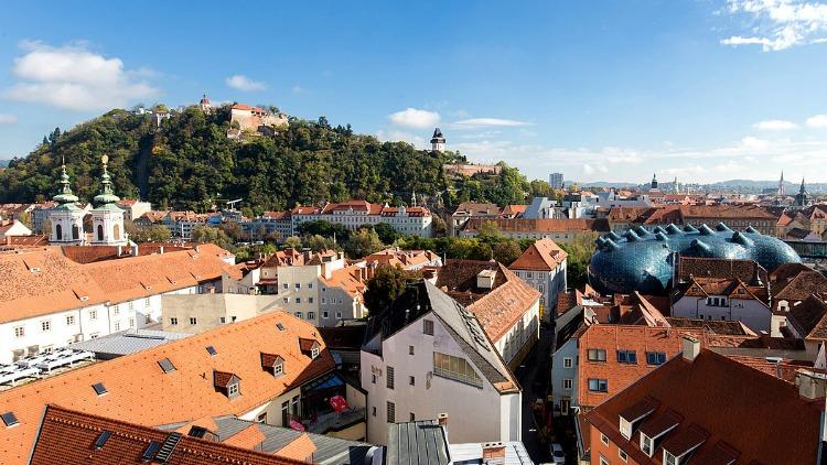 rooftops, graz, austria