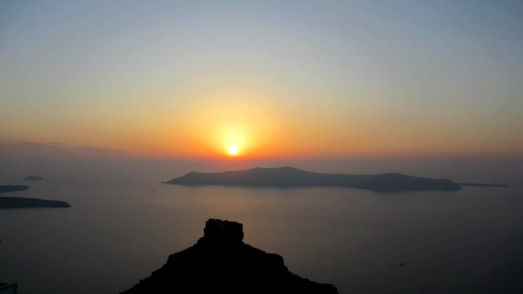 sunset over sakros rock
