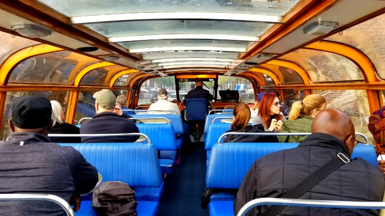 canal boat tour, solo in amsterdam