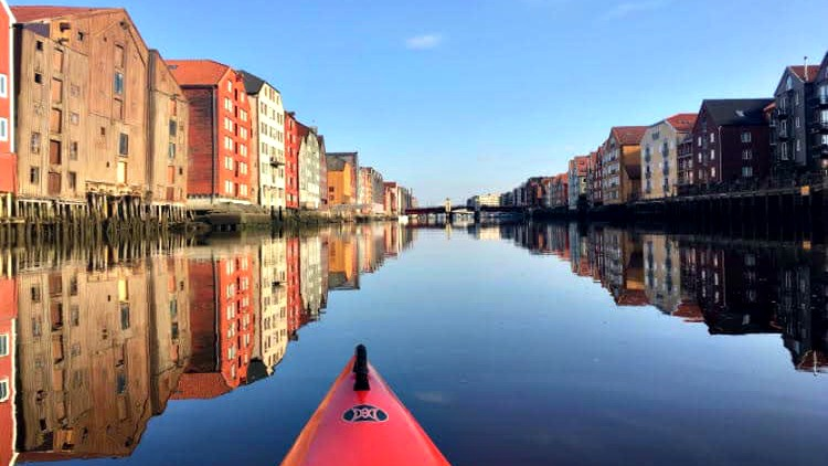 photo, image, kayak, trondheim, norway