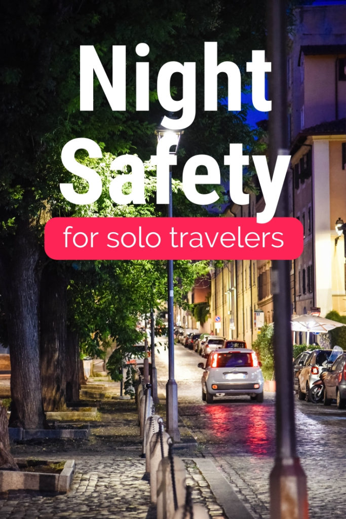 night safety for solo travelers