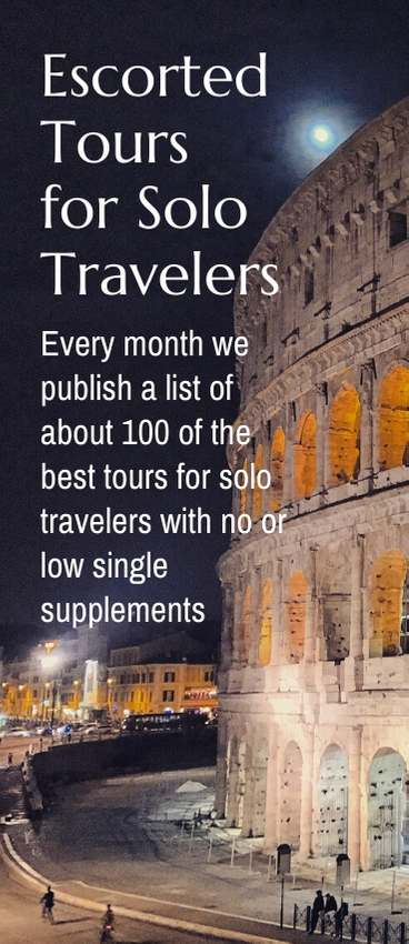 This is the only list on the net of tours and cruises from a variety of company with no or low single supplements. We\'ve been advocating for solo travelers since 2009, working to get the single supplement eliminated. It\'s not yet perfect but we continue to work on it. #solotravel #solotraveldeals #travel #traveldeals