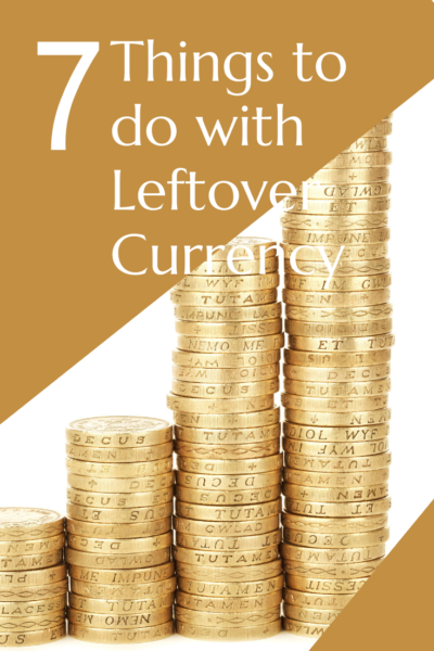 Leftover currency can mount up. Do you have coins and bills from countries you'll never return to? Here are 7 ways to deal with leftover currency. #travel #money #budgettravel