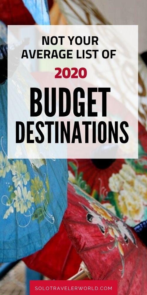 best budget destinations