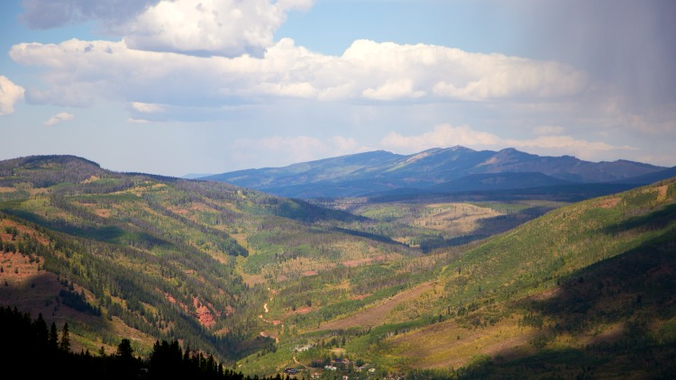 vail, colorado, summer scene