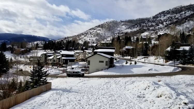 vail, colorado, winter scene