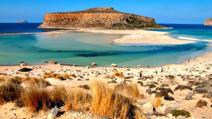 balos lagoon, crete, greece photos
