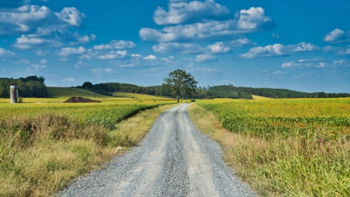 country road, travel is the goal