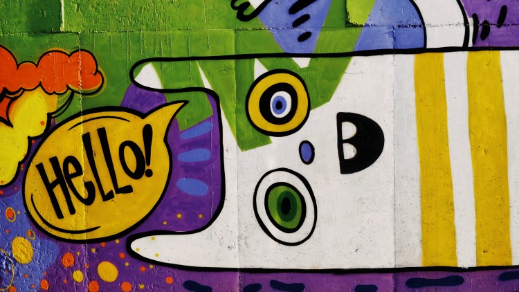 graffiti, meet people while traveling solo, hello